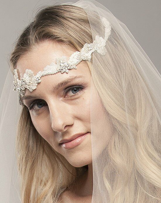 Laura Jayne Breanna Embroidered Headchain Comb Wedding Accessory photo