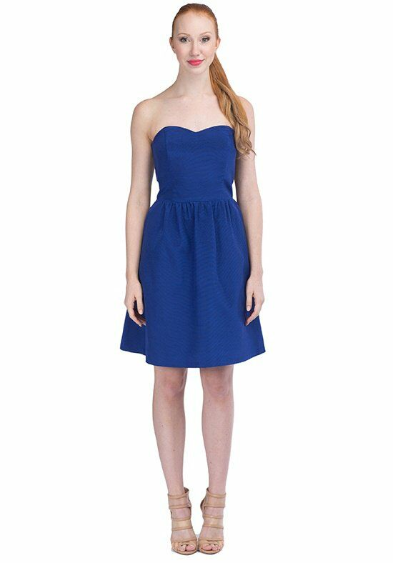 LulaKate Pearl Blue Bridesmaid Dress photo