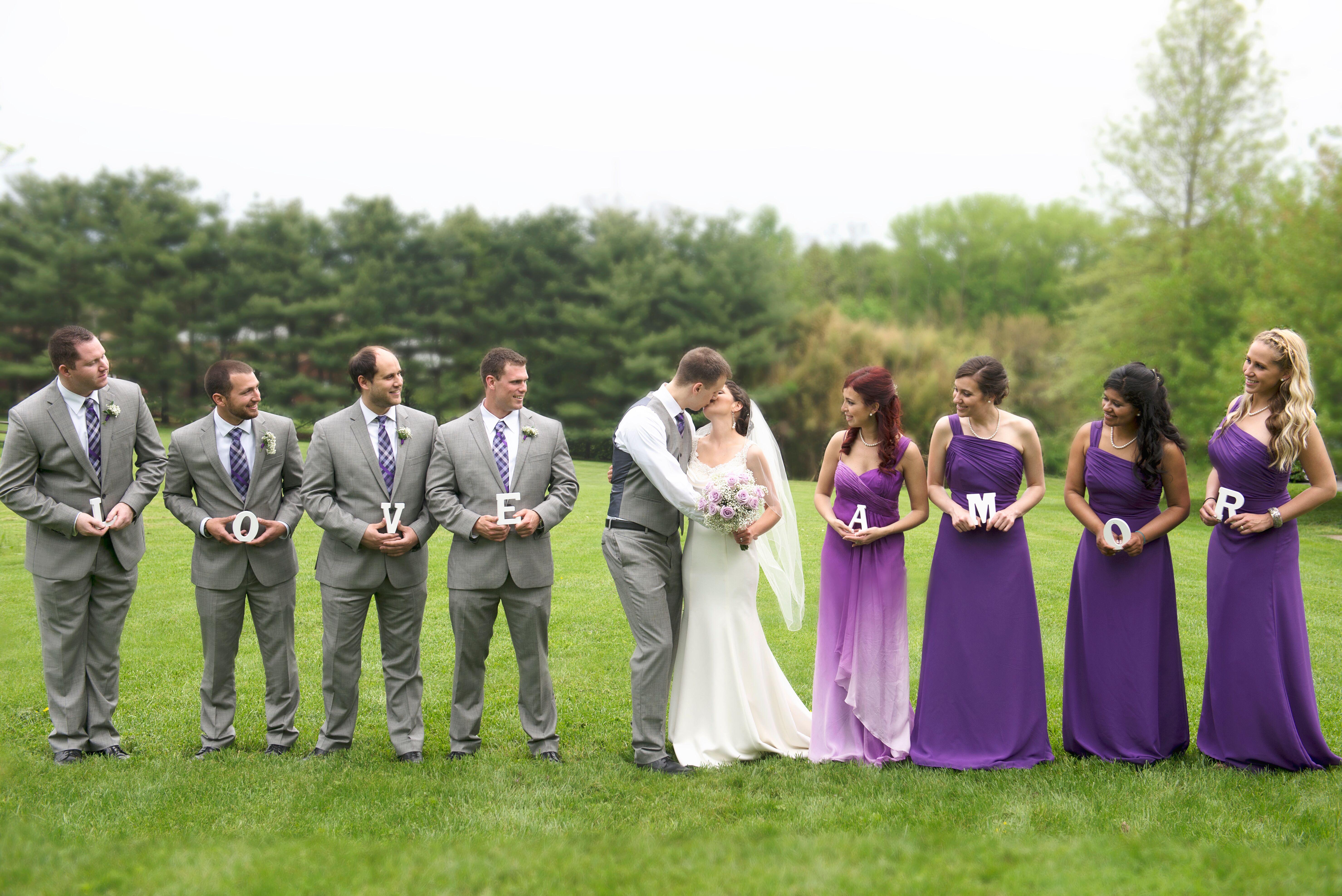 lilac bridesmaid and groom - HD5916×3949