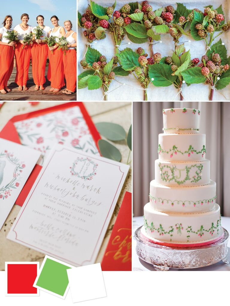 Poppy Celadon And White Wedding Color Inspiration