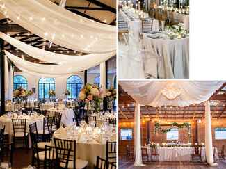 Winter wedding reception decor trends