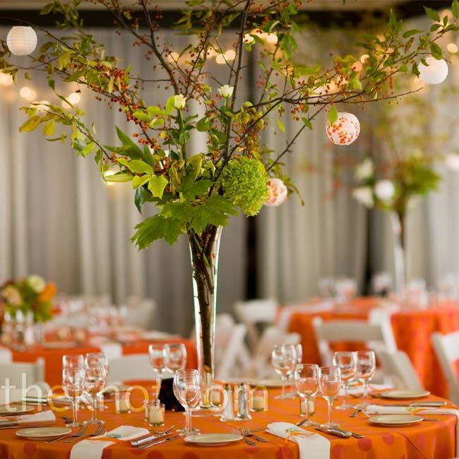 tall branch centerpieces