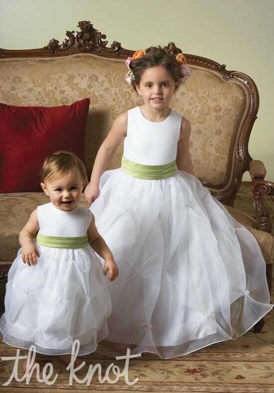 Sweet Beginnings L711(right) with K732 Flower Girl Dress photo