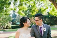Mediterranean Revival architecture was the backdrop for Tabitha Chen (30 and a dentist) and Loren Lee's (31 and a dentist) elegant wedding. The venue