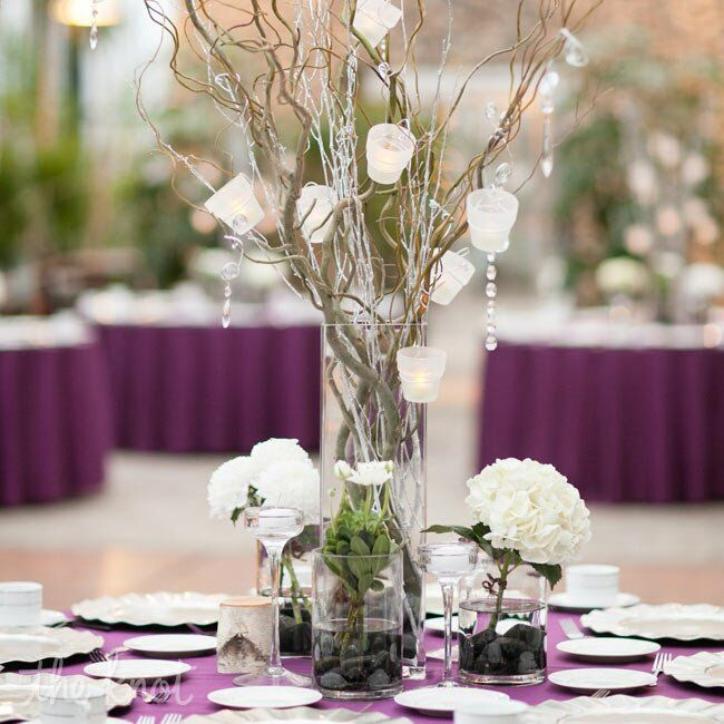 Floral and branch centerpieces