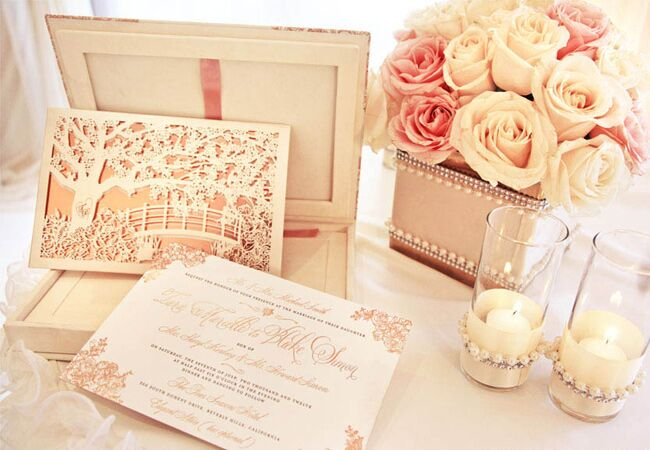rose gold wedding ideas - Rose Gold Wedding Invitations