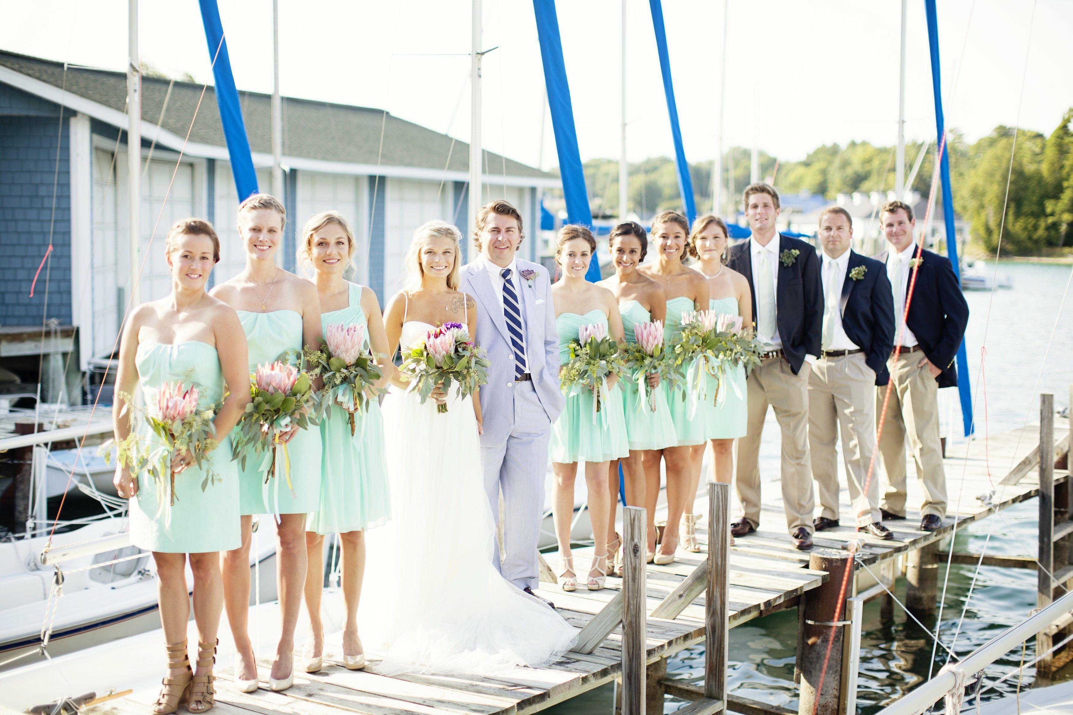 Mint J.Crew Bridesmaid Dresses