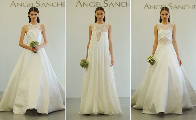 Angel Sanchez Wedding Dresses 2015 Showcase Cut Outs And Architectural Necklines For Fall
