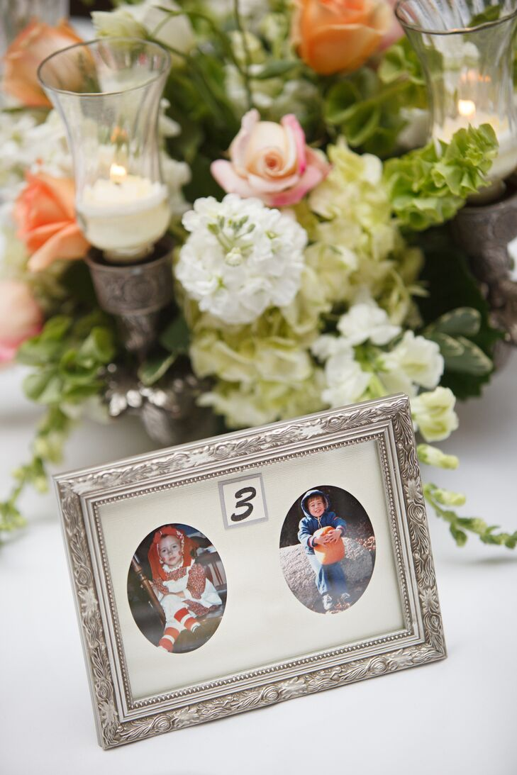 Bride and groom photo table marker sciox Images