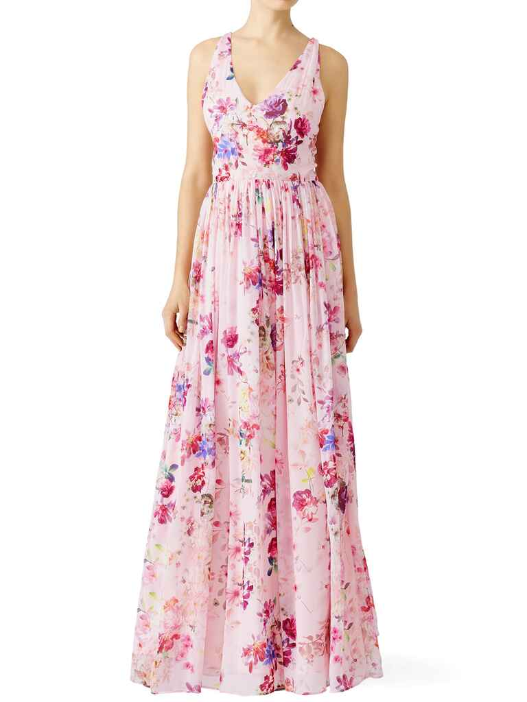 Slate & Willow pink floral fields maxi dress