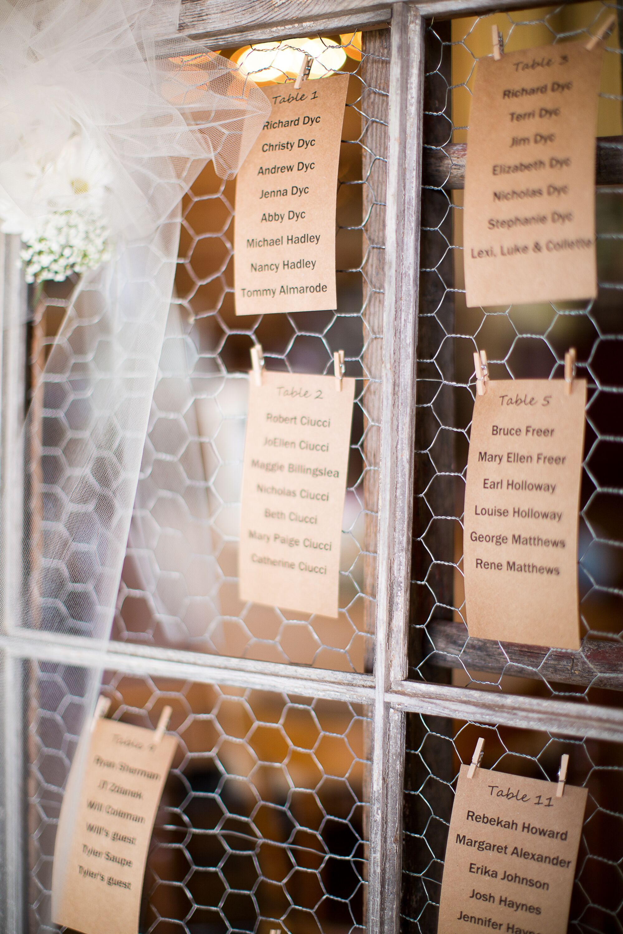 Diy wedding seating charts diy kraft paper and chicken wire seating chart solutioingenieria Images