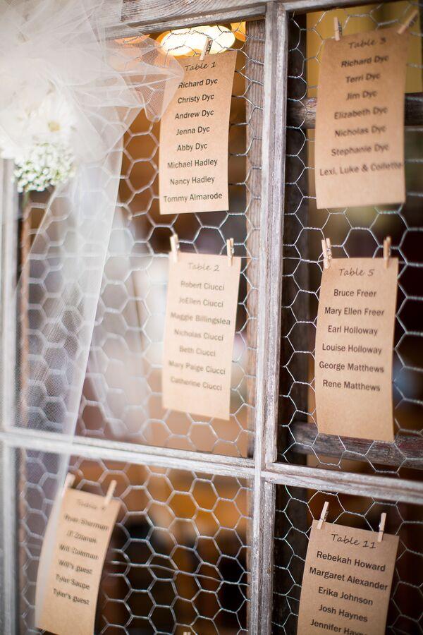 DIY Wedding Seating Charts