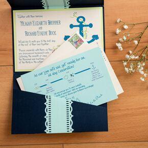 Nautical Wedding Invitations Perfect For An Oceanside Celebration Martha Stewart Weddings