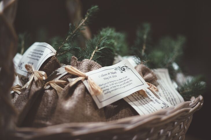 Sapling And Wildflower Seed Wedding Favors