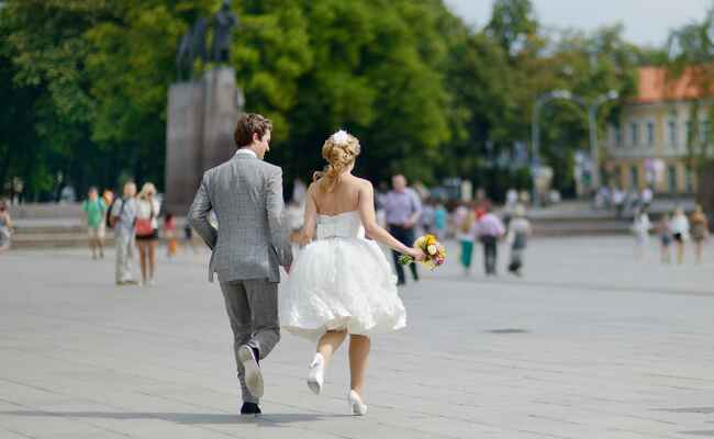 Have You Ever Joked About Eloping? (We Did): Shutterstock / TheKnot.com