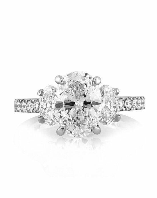 Mark Broumand 3.31ct Oval Cut Diamond Engagement Ring Engagement Ring photo