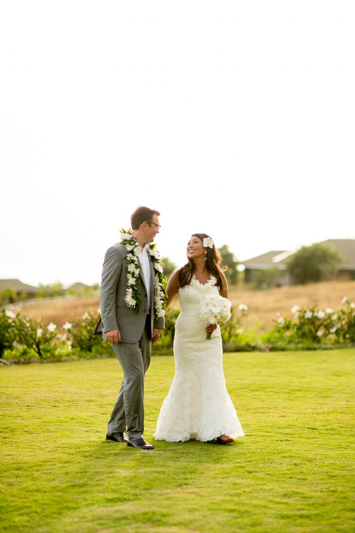 A Romantic, Tropical Wedding at Maui Dragon Fruit Farm in Maui, Hawaii