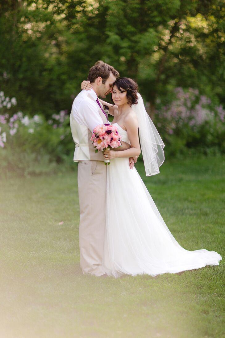 pink white and khaki bridesmaid dresses wedding dresses