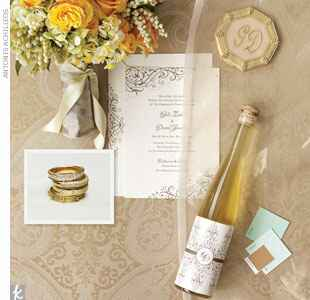 neutral champagne wedding style board