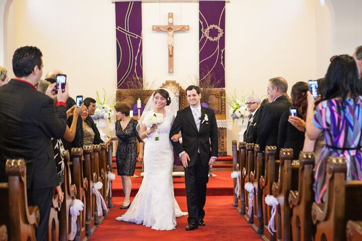 Married Couple Recessional at Catholic Church