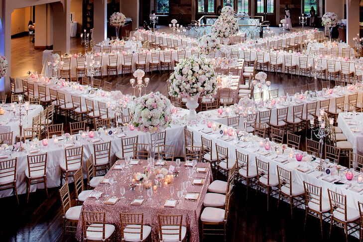 X Seating Arrangement With Chiavari Chairs