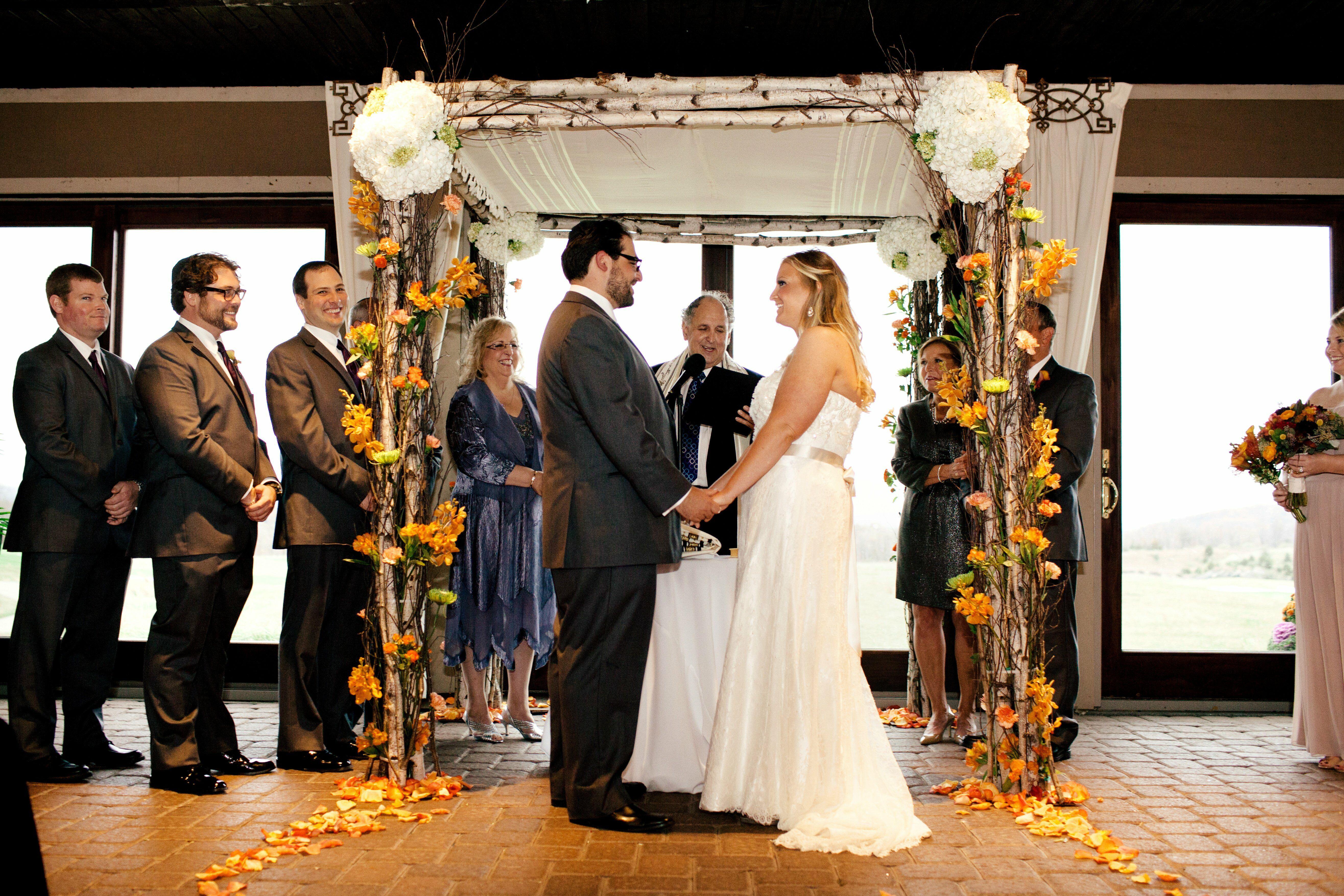 An Indoor Rustic Ceremony: Rustic Indoor Ceremony Huppah