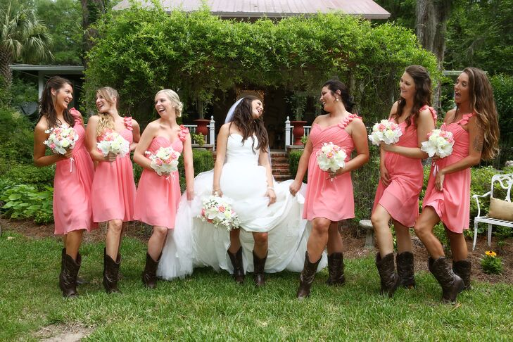 Bridesmaid Dresses with Cowgirl Boots
