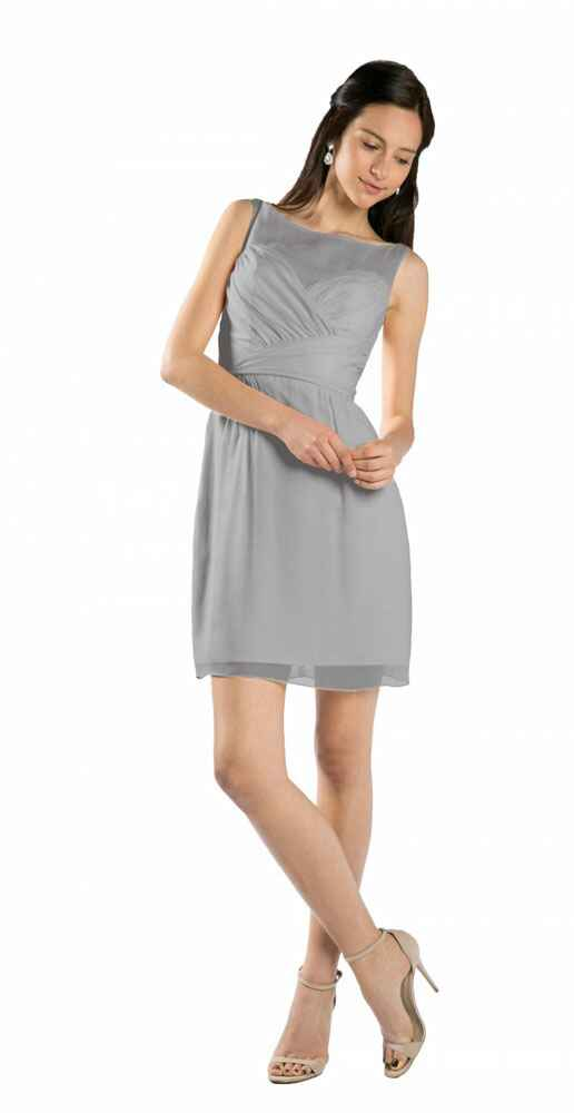 grey bridesmaid dress by Alvina Valenta