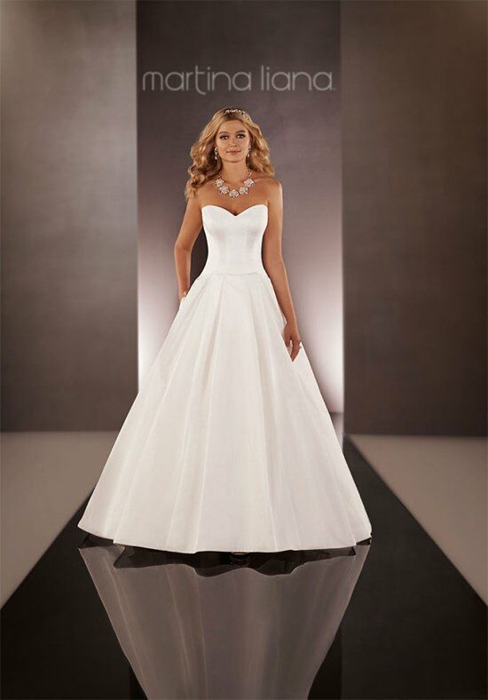Martina liana 627 wedding dress the knot for Wedding dresses the knot