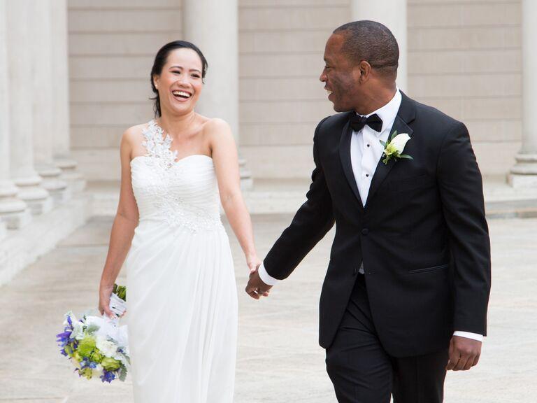 CeremonyWeddingInterfaith Up Next Bride And Groom Civil Ceremony Exit