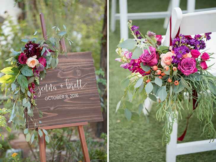 floral details at springs reserve in las vegas reception.