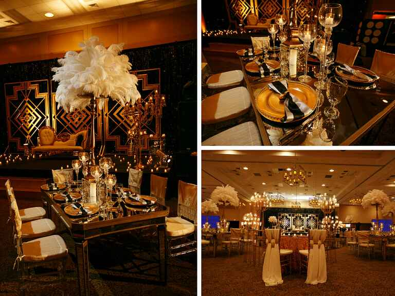 Gold and black Indian wedding