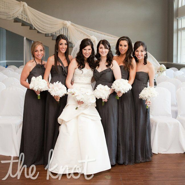Charcoal Bridesmaid Dresses