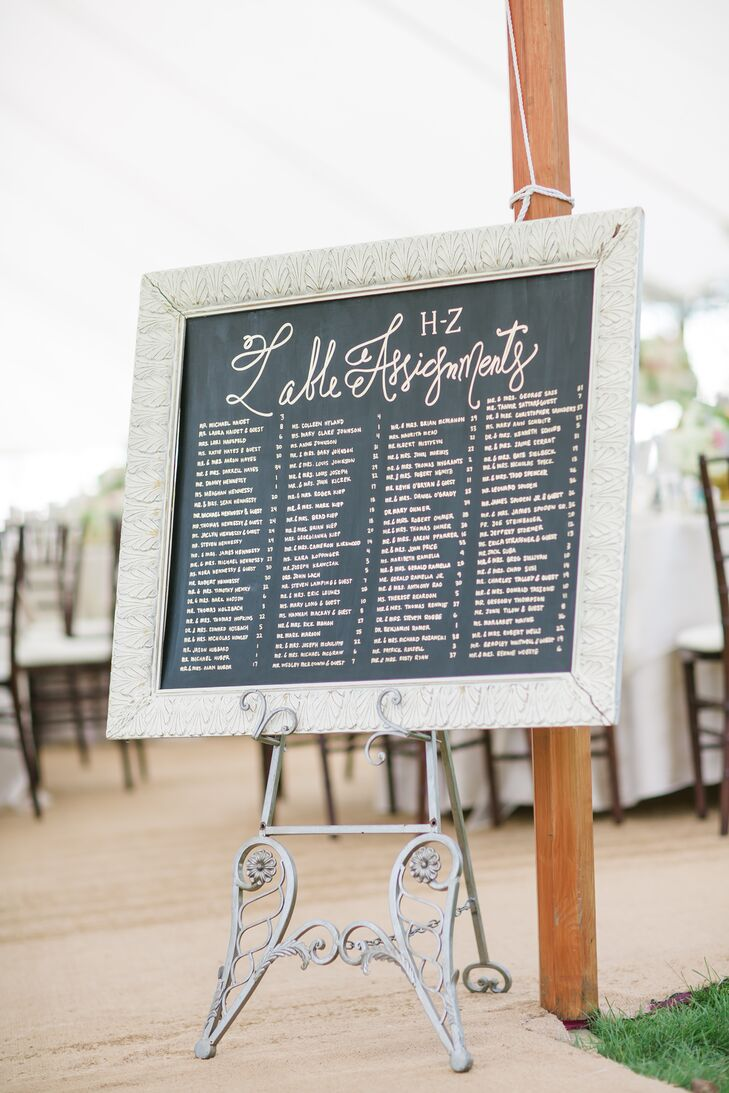 Framed Chalkboard Assigned Seating Board