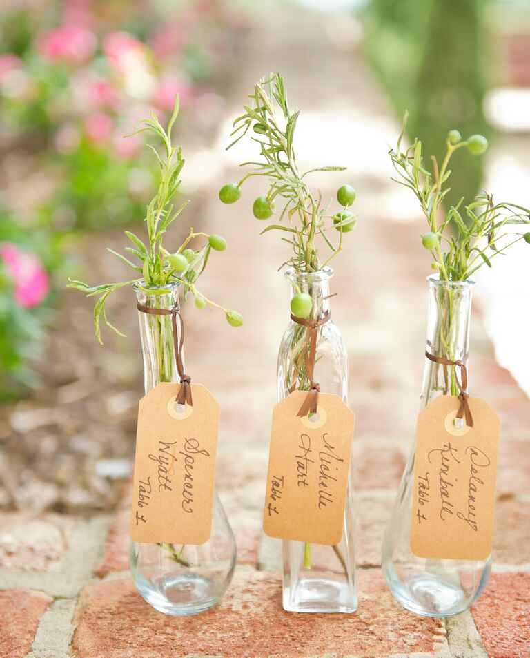 Natural herb escort cards