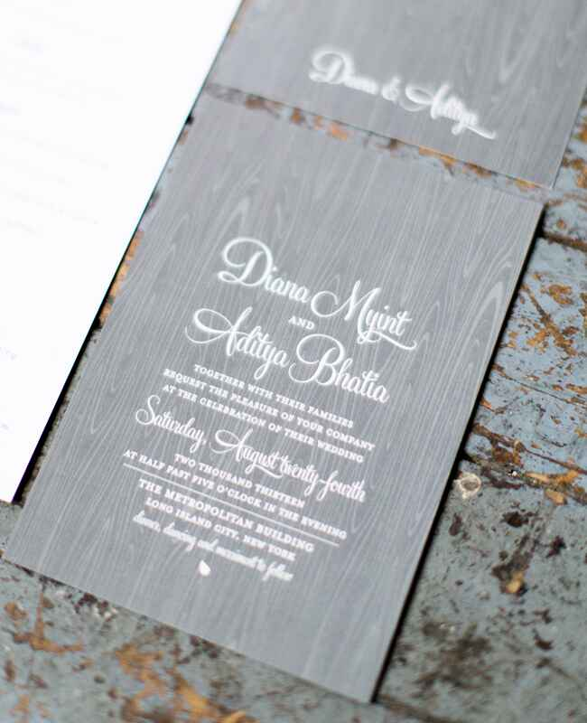 Gray Woodgrain Invitation Suite |<img class=