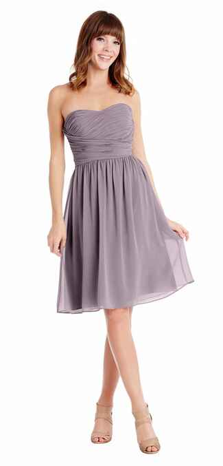 purple bridesmaid dress by Donna Morgan