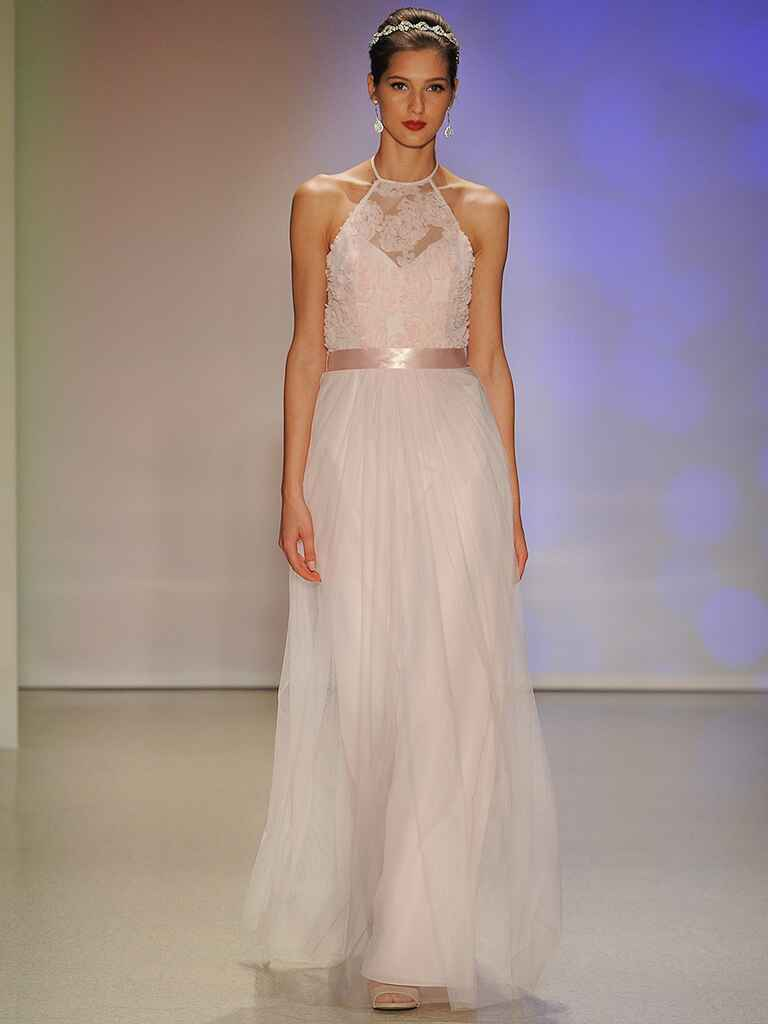 Blush pink wedding dress by Alfred Angelo​​​