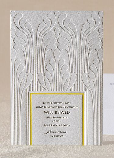 art deco save the date by la fontaine for elum designs - Wedding Invitations And Save The Dates