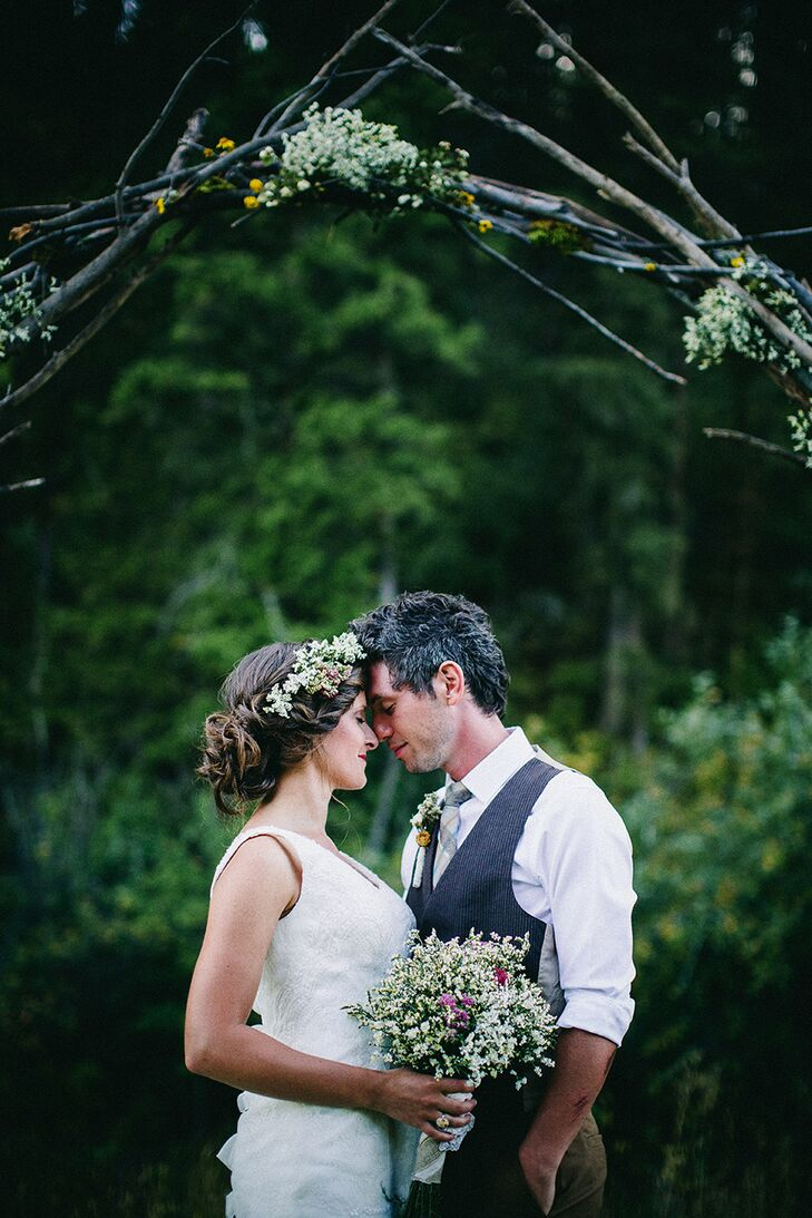 A Rustic Bohemian Wedding At Private Residence In Idaho Falls