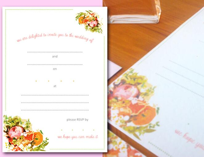 wedding invitation templates that are cute and easy to make, Wedding invitation