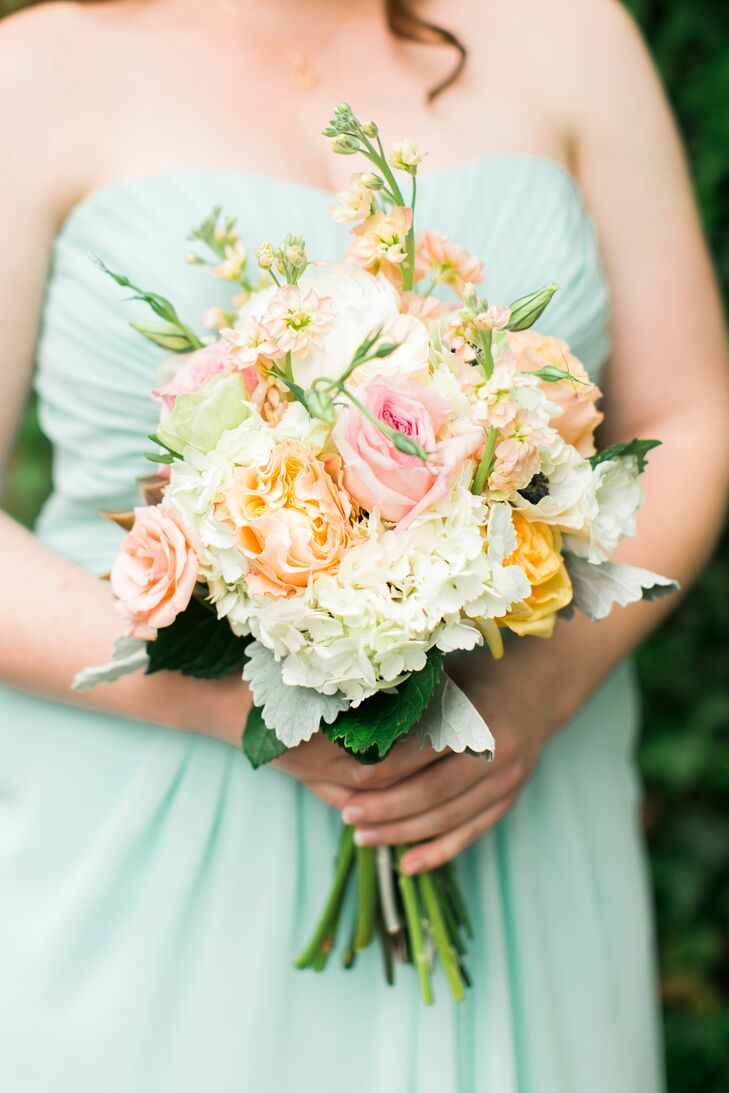 Peach, Pink and White Bouquet with Anemones