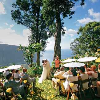 Cliffside destination wedding