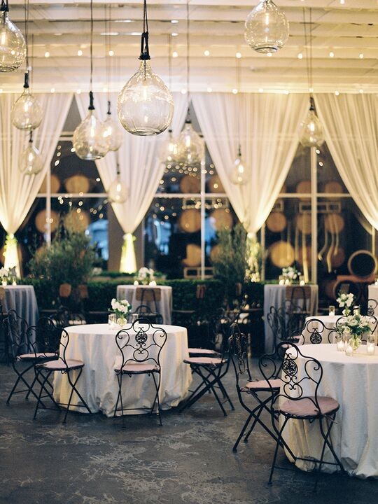 7 wedding style dcor hacks you should know about the venue is large and wide open and you want an intimate feel glamorous wedding reception junglespirit Images