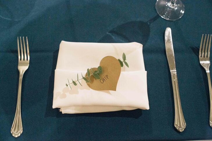 Rustic Place Setting with Navy Table Linen