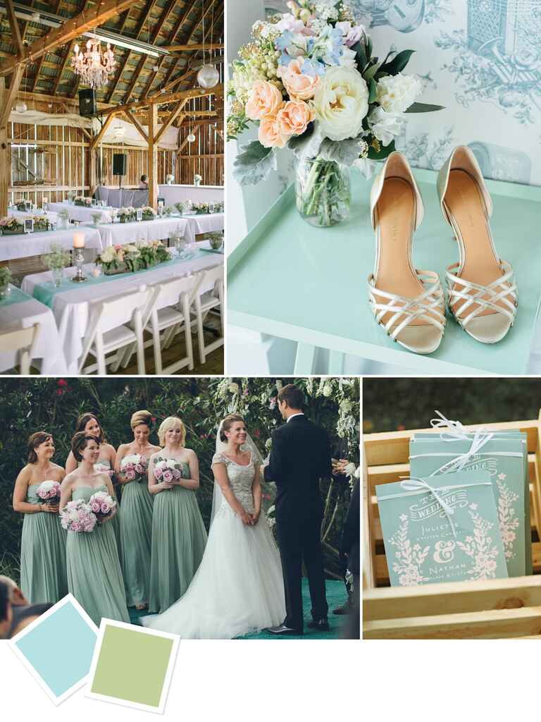 Light blue and green wedding color inspiration