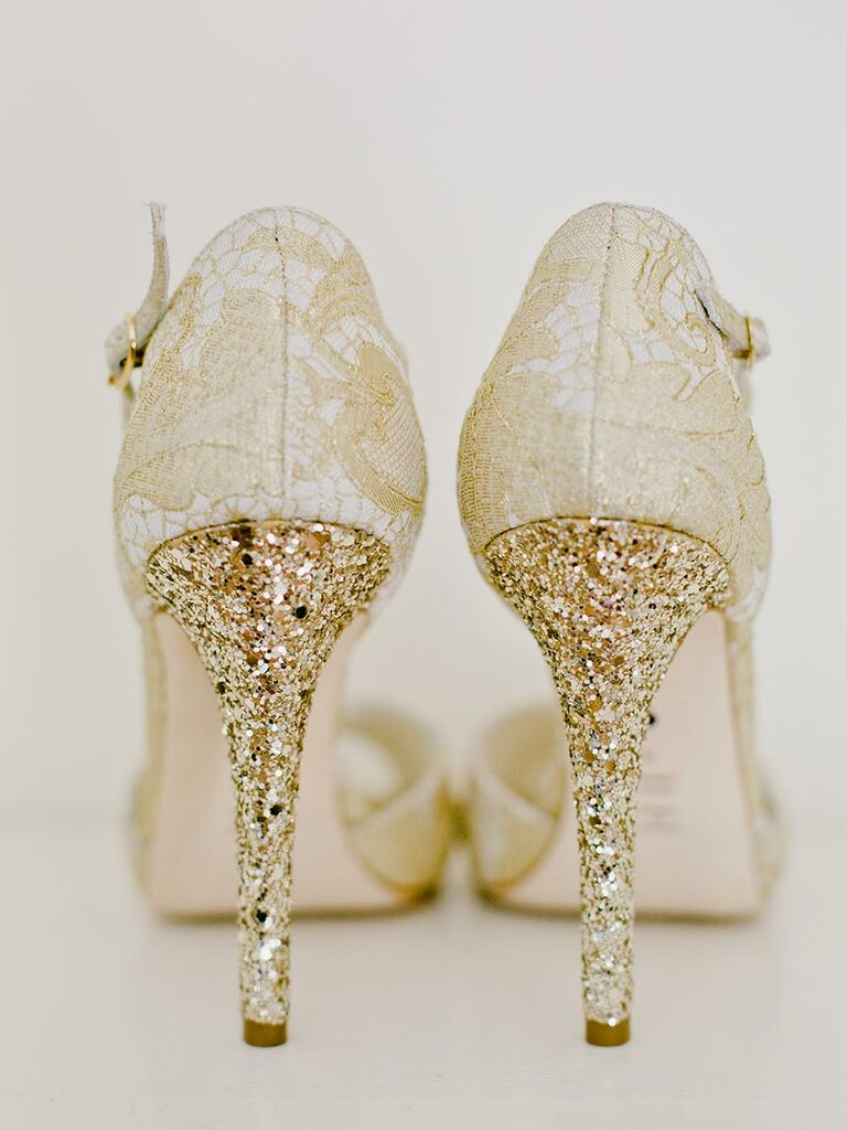 Sparkly wedding shoes wedding shoes sparkly heels gold junglespirit Image collections