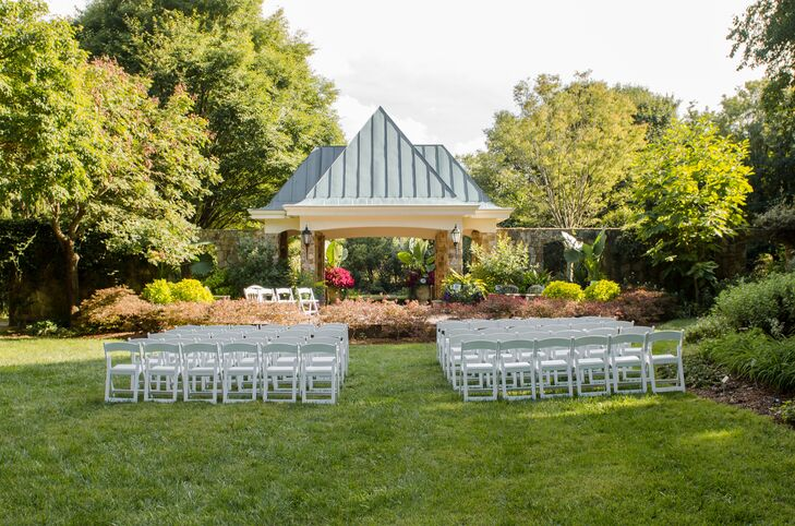 Outdoor Ceremony At Lewis Ginter Botanical Garden