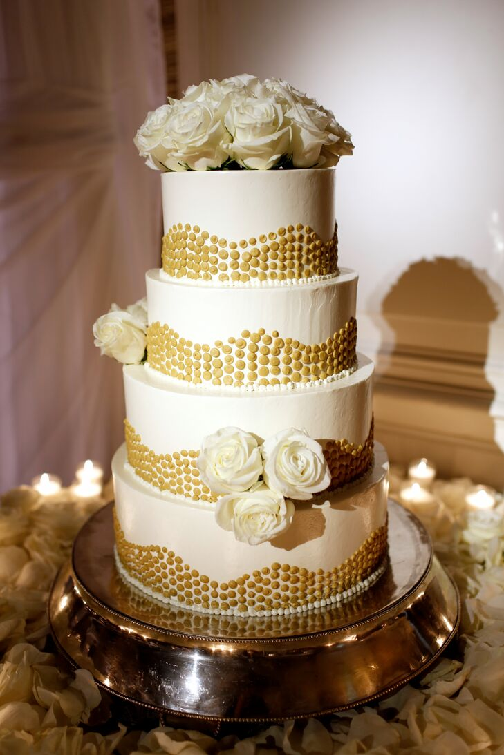 wedding cakes gold and white white and gold wedding cake 24440