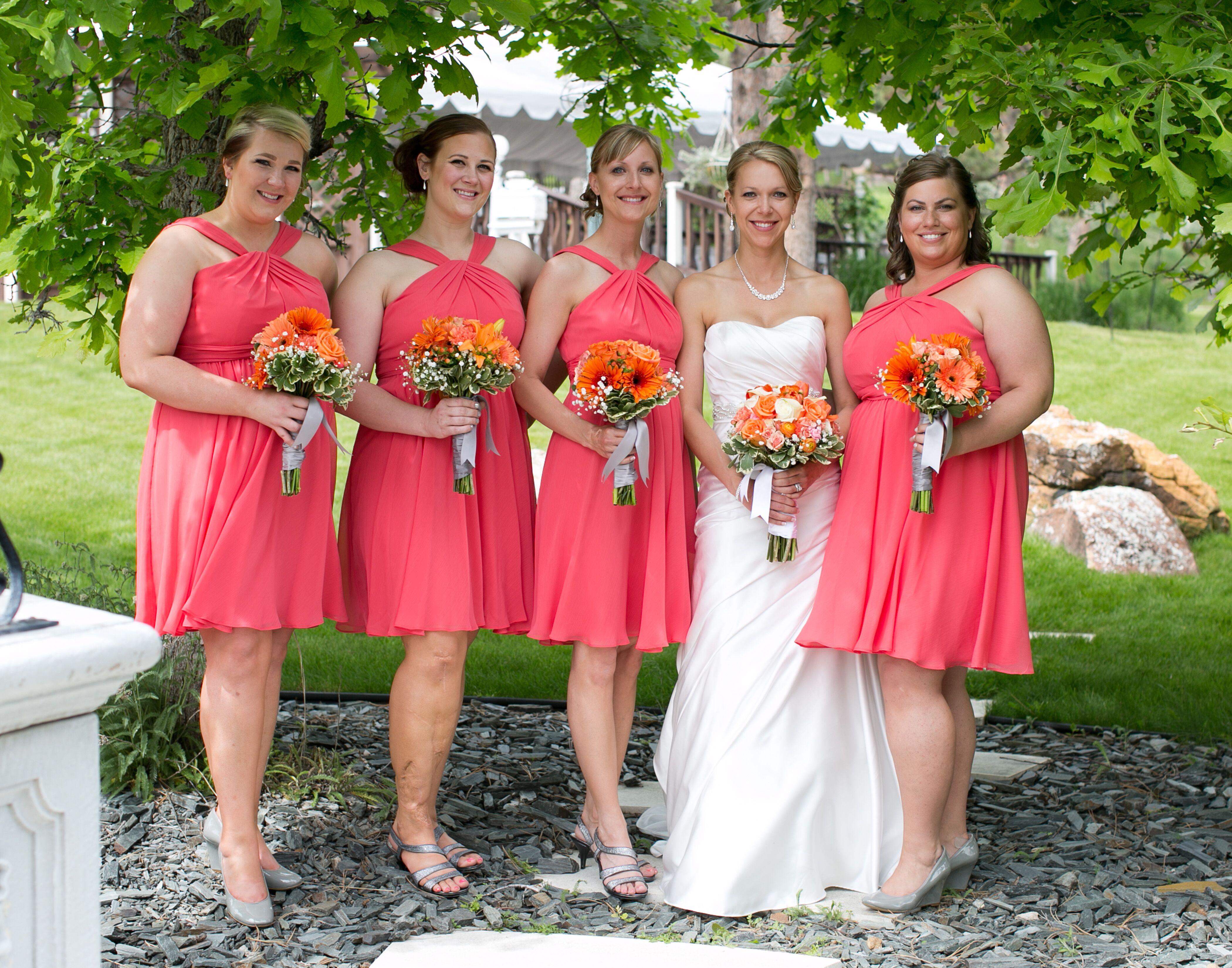 Short guava chiffon bridesmaid dresses ombrellifo Choice Image